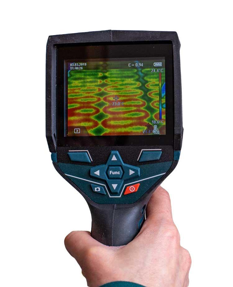 Wärmebildkamera für Thermografie bei Wasserschaden - JaWo in München